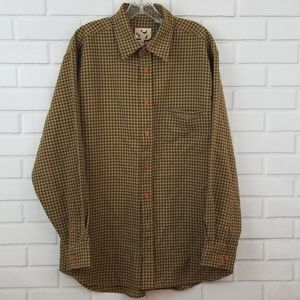 South Pole Tattersall Poly Blend Button Down Shirt